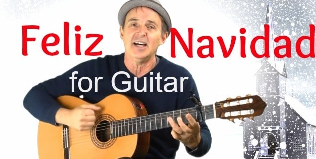Feliz Navidad for Guitar | Fun Song With Easy Guitar Chords