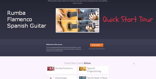 Short Tour of the Rumba Flamenco Spanish Guitar made easy course
