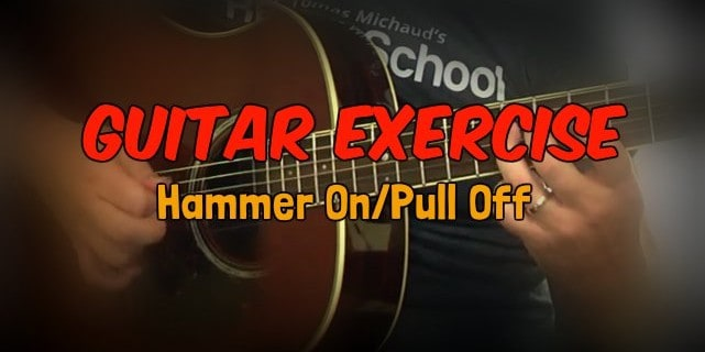 Hammer On Pull Off Acoustic Guitar Exercise And Pinky Strengthener