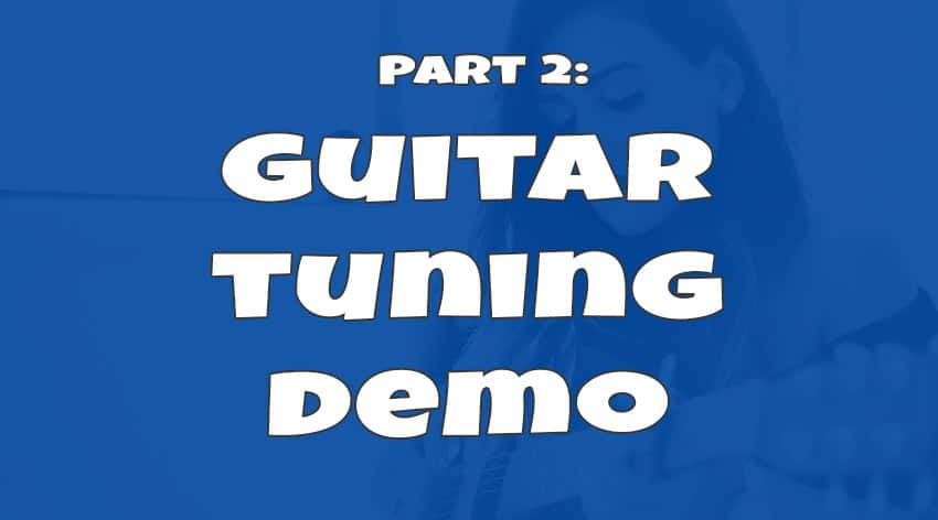 how to tune a guitar part 2 demo