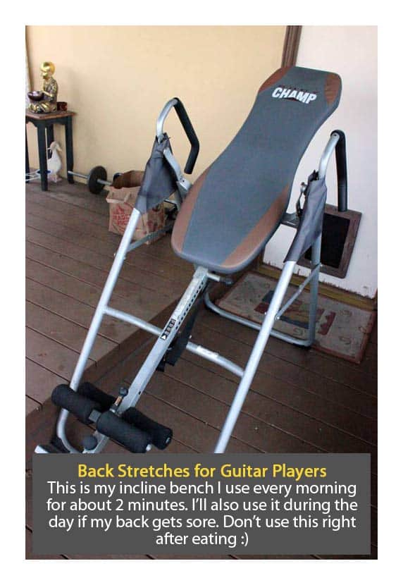 pain free guitar playing Incline-Bench