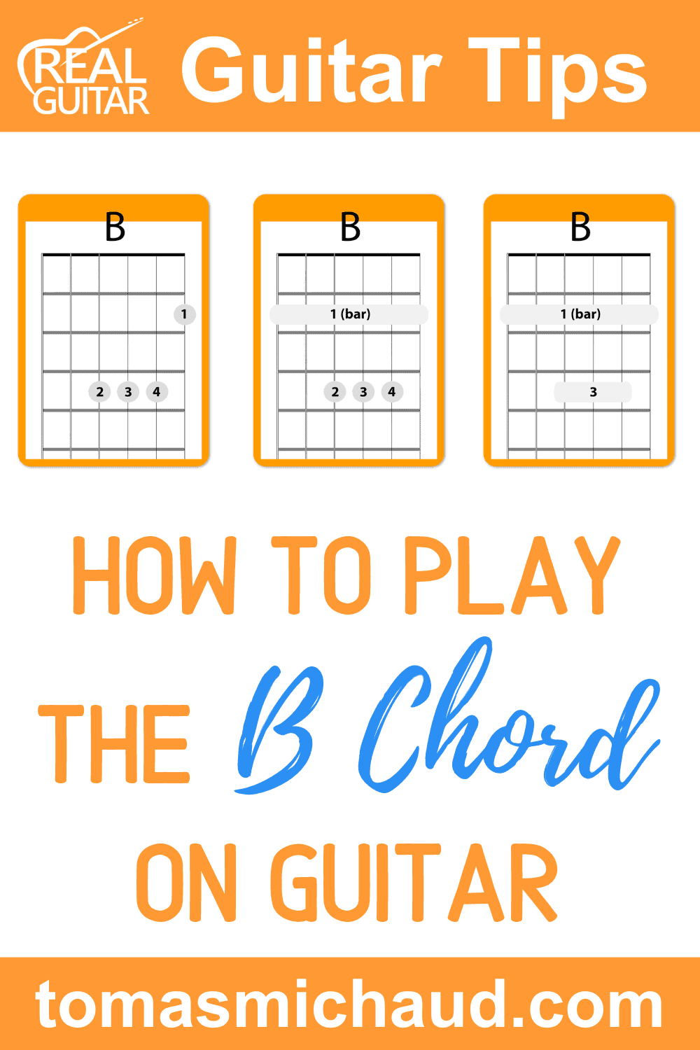 How to Play the B Chord on Guitar