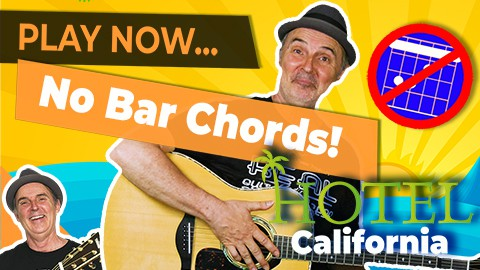 Play Hotel California Without Bar Chords