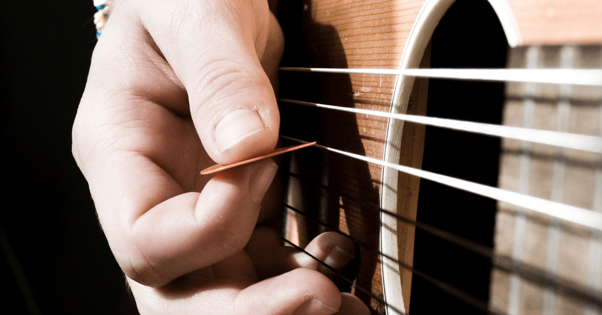 Play Guitar With A Pick