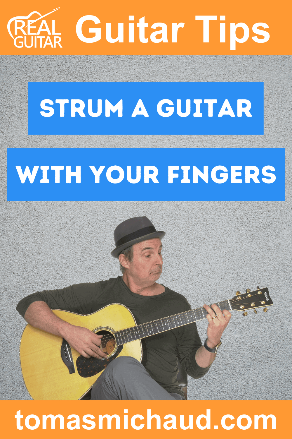 Strum a Guitar With Your Fingers