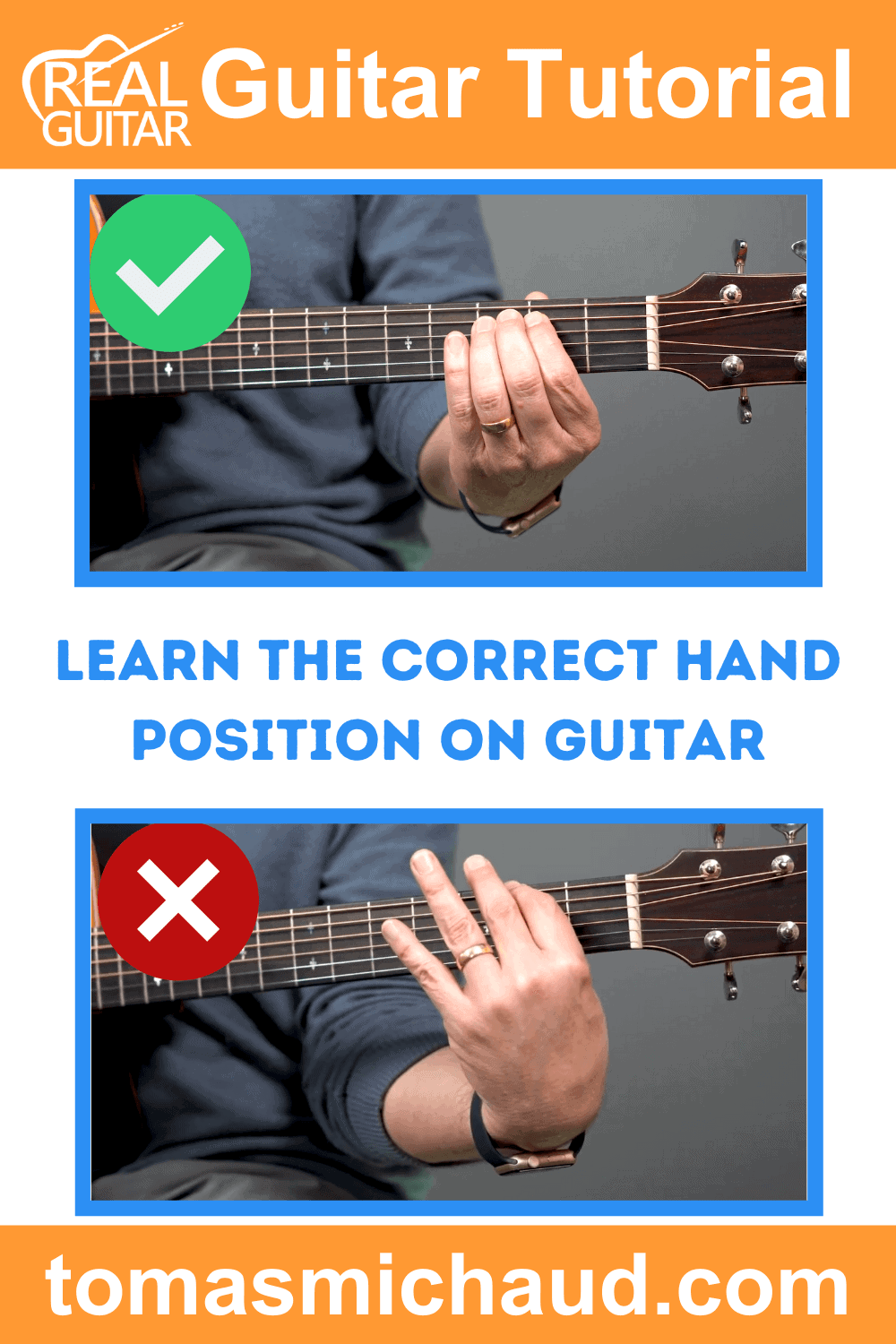 Learn the Correct Hand Position on Guitar
