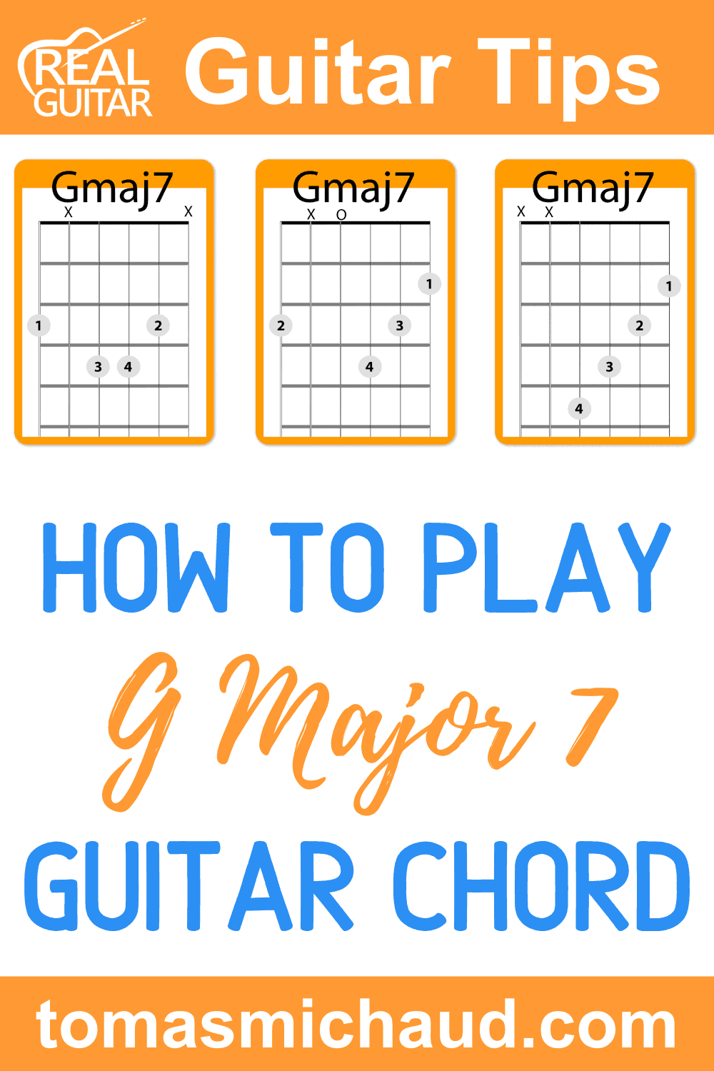How to Play G Major 7 Guitar Chord