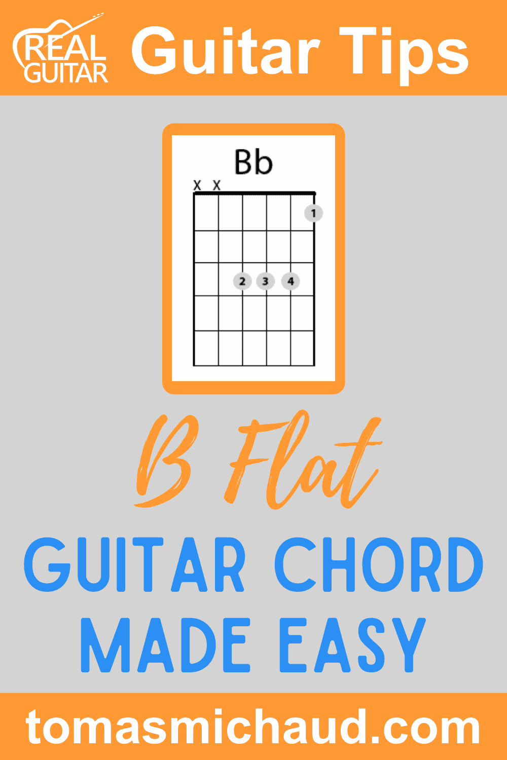 B Flat Guitar Chord Made Easy