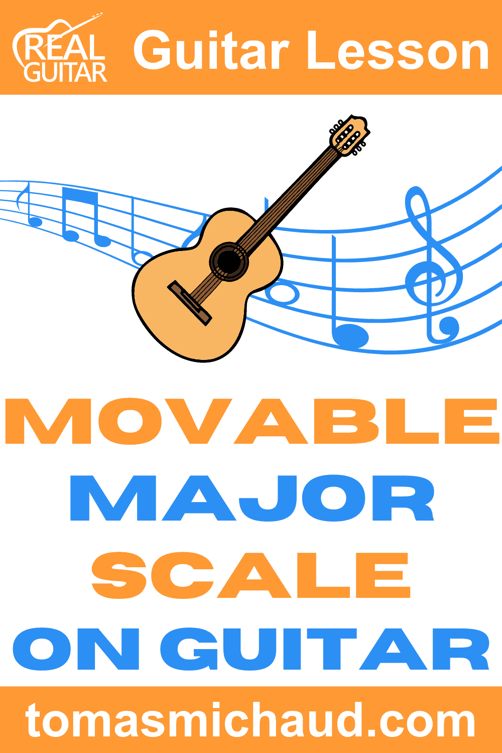 Movable Major Scale on Guitar