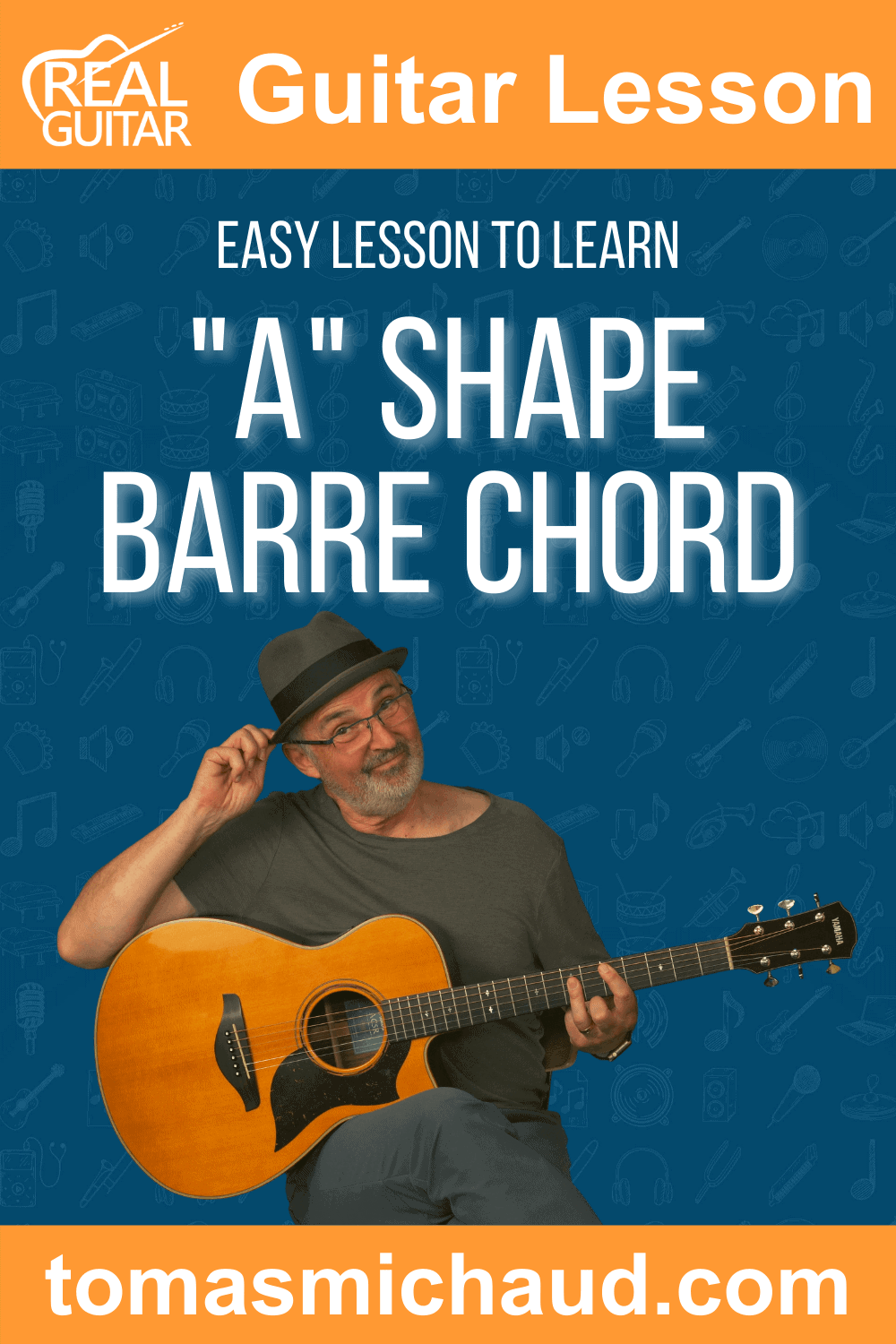 """Easy Lesson to Learn """"A"""" Shape Barre Chord"""